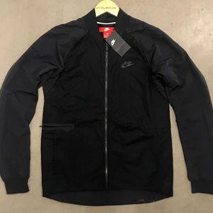 NIKE Sportswear Men's Black Woven Varsity Jacket
